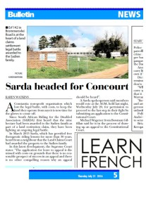 CONSTANTIA BULLETIN  21 july 16